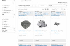 Old product search results before redesign