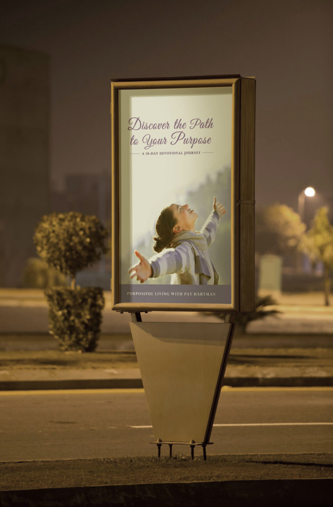 "Street promo for ""Discover the Path to Your Purpose"""